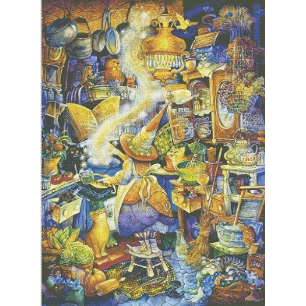 クロスステッチ刺繍キット Mystic Stitch - Bell-KITCHEN WITCH I
