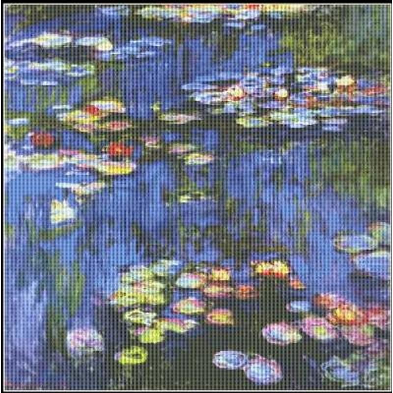 [クロスステッチ刺繍キット] Mystic Stitch - Water Lilies Monet - Monet(モネ)