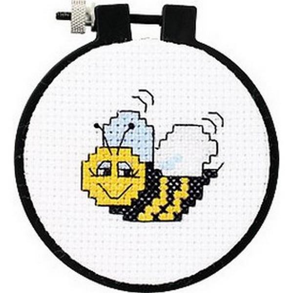 販売 海外輸入の初心者向けクロスステッチ刺繍キットです 新作アイテム毎日更新 クロスステッチ刺繍キット Dimensions - Learn-A-Craft Bee Bumble