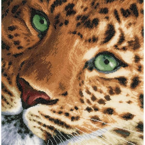 クロスステッチ刺繍キット Lanarte(ラナーテ) - Leopard