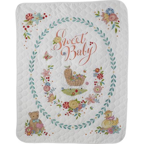 クロスステッチ刺繍キット Bucilla-ベビーベッドカバー-Sweet Baby Crib Cover