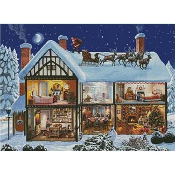 クロスステッチ刺繍キットChristmas House 1- Artecy18ctキットクリスマス