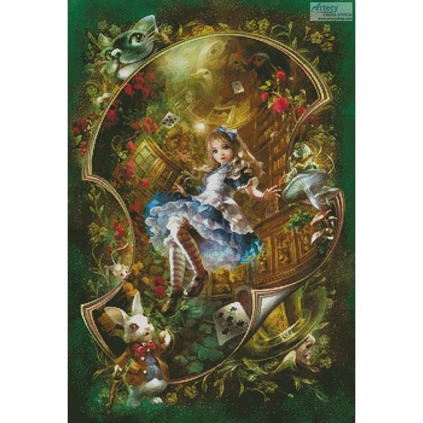 クロスステッチ刺繍キットMini Dear Alice 25ctキットアリス