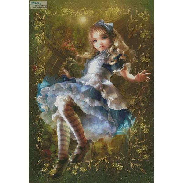 クロスステッチ刺繍キットFloating Alice - Large 18ctキットアリス