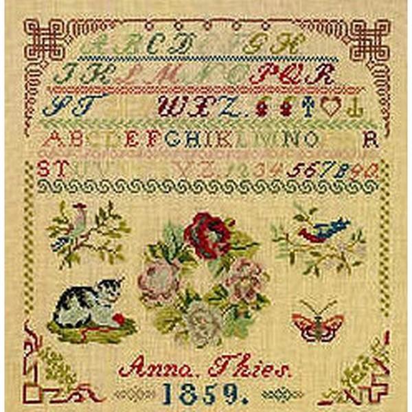 [クロスステッチ] 刺繍キット 手作り Permin(ペルミン) - Anna Theis 1859 Sampler