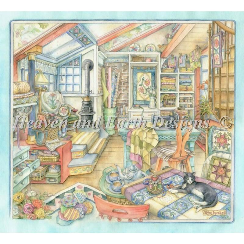 クロスステッチ キット(28ct)Quilting Room Max Color-HAED(Heaven and Earth Designs)