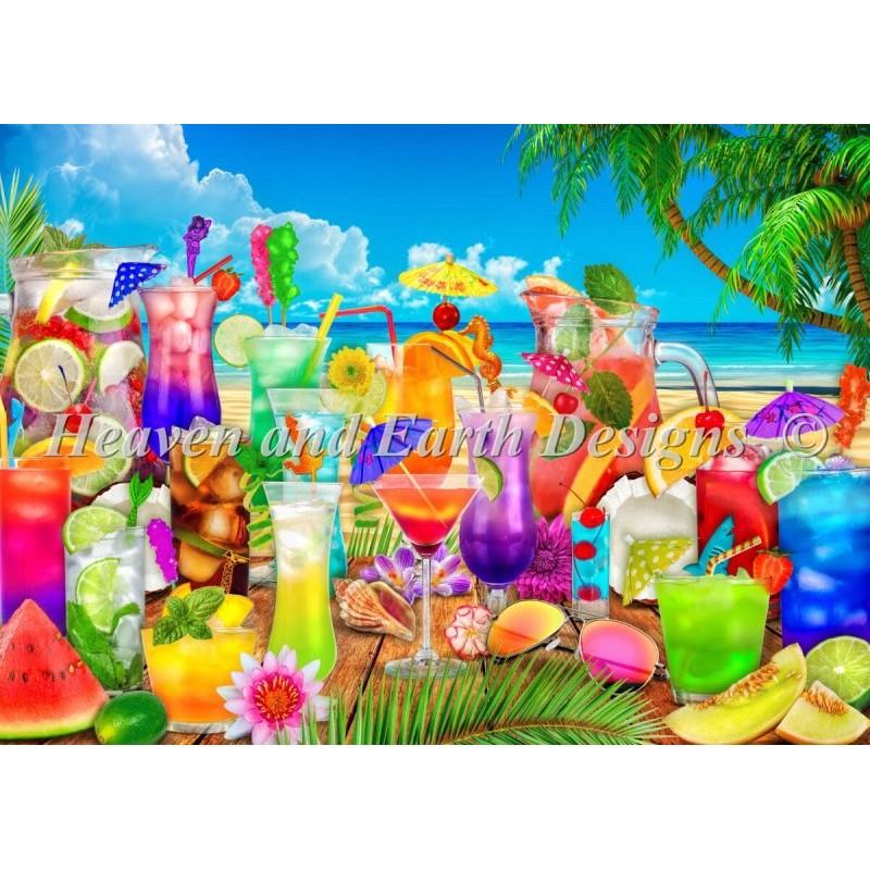 クロスステッチ キット(25ct)Drinks On The Beach Max Color-HAED(Heaven and Earth Designs)
