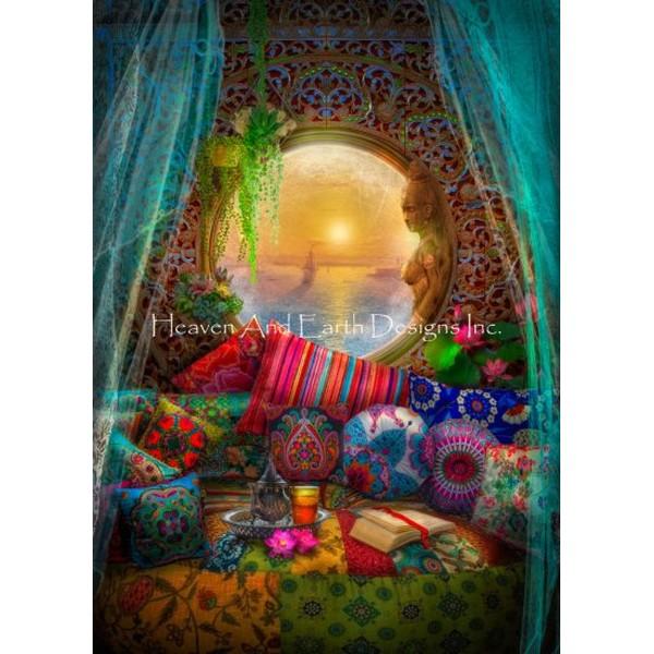クロスステッチ キット 上級者 全面刺し Oasis Request A Size Color Expansion 25ct-HAED(Heaven and Earth Designs)