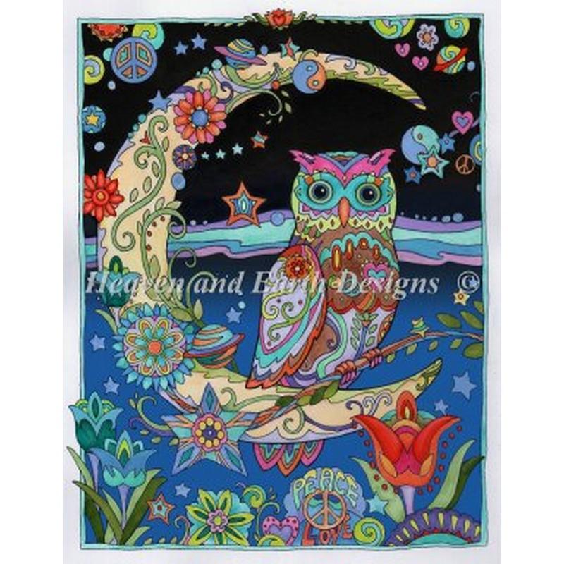 クロスステッチキット HAED(Heaven And Earth Designs)-Crescent Moon Owl