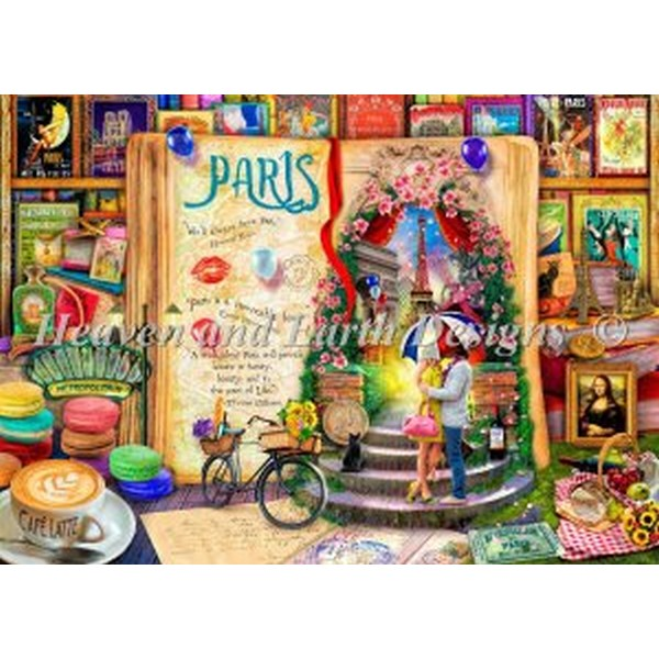 HAED(Heaven And Earth Designs)-Life Is An Open Book Parisクロスステッチキット