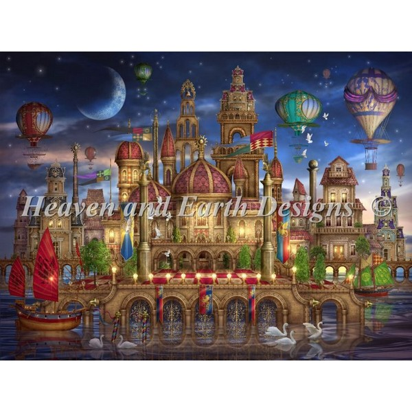 HAED(Heaven and Earth Designs)-Supersized Downtown Max Colorクロスステッチ キット