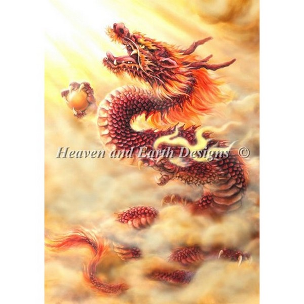 HAED(Heaven And Earth Designs)-Red Dragonクロスステッチキット