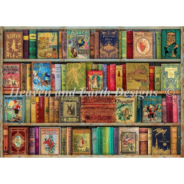 The Bountiful Bookshelfクロスステッチ刺繍 キット クロスステッチキット 海外 Heaven And Earth Designs(HAED)