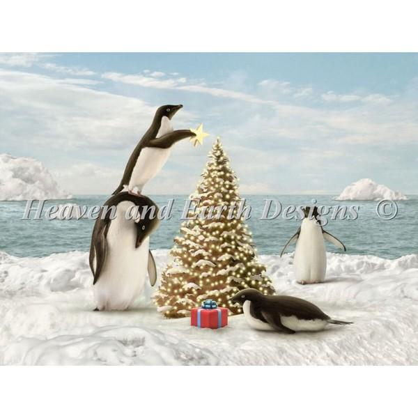 クロスステッチ刺繍キットクリスマス Heaven And Earth Designs(HAED) - Merry Penguins