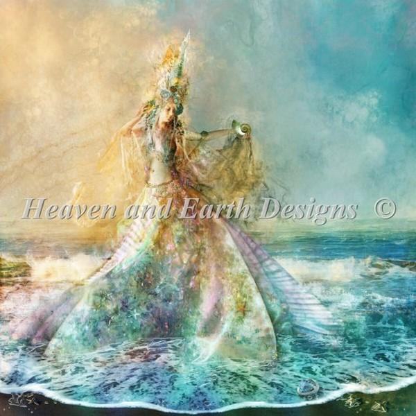 クロスステッチ刺繍キット Heaven And Earth Designs(HAED) - Shell Maiden