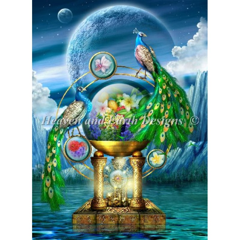 Mini Peacock Lagoon-Heaven And Earth Designs(HAED) ベラーナ20ct クロスステッチ キット