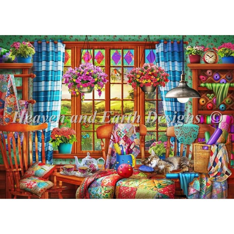 クロスステッチ キット 上級者 全面刺し Patchwork Quilt Room- HAED(Heaven And Earth Designs)