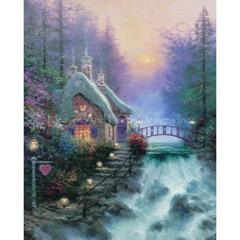 クロスステッチキットSweetheart Cottage II- HAED(Heaven And Earth Designs)