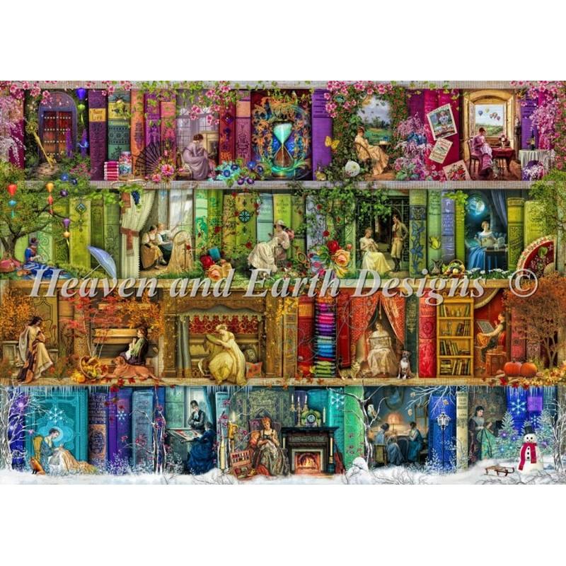 クロスステッチ キットA Stitching Shelf Max Color-HAED(Heaven and Earth Designs)