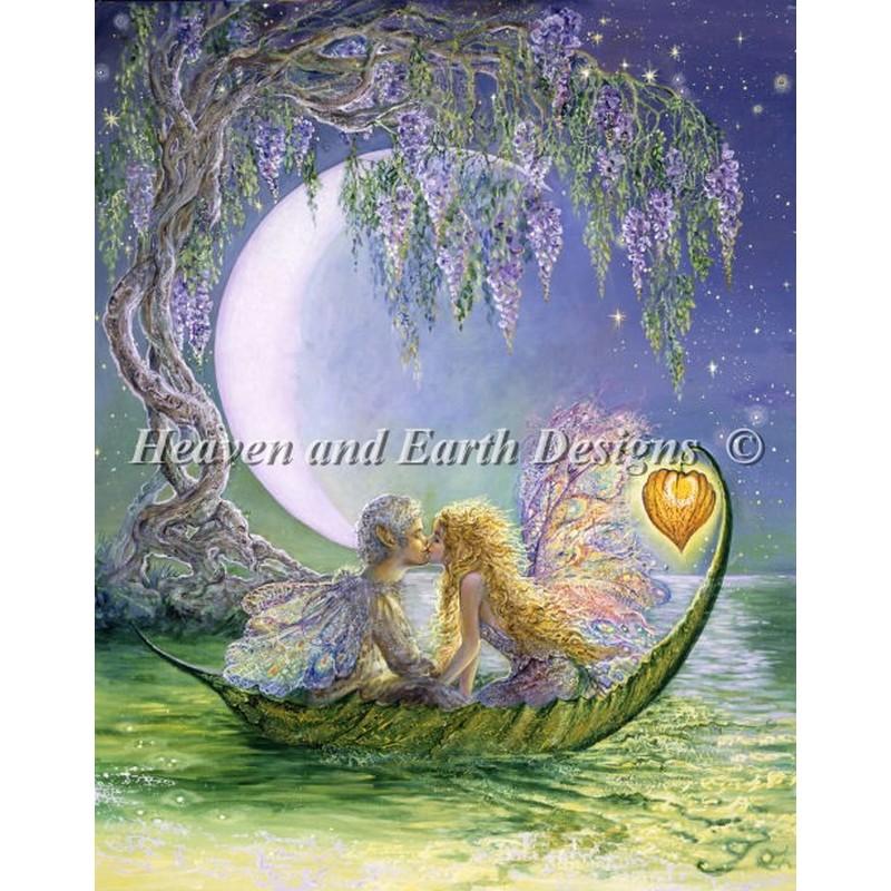 クロスステッチキットWisteria moon- HAED(Heaven And Earth Designs)