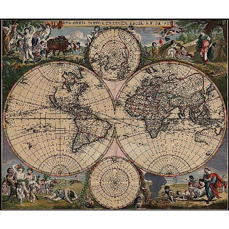 クロスステッチ キット 上級者 全面刺し Old World Map - HAED(Heaven And Earth Designs)