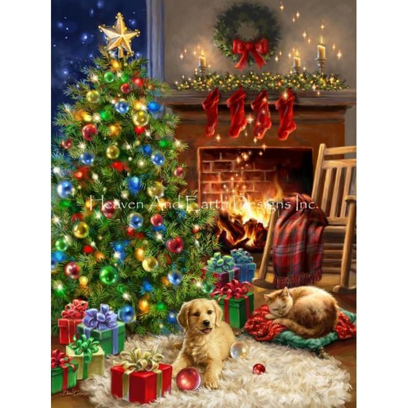 クロスステッチ キット 上級者 全面刺し クリスマス Cozy Christmas DG - HAED(Heaven And Earth Designs)25ctルガナ