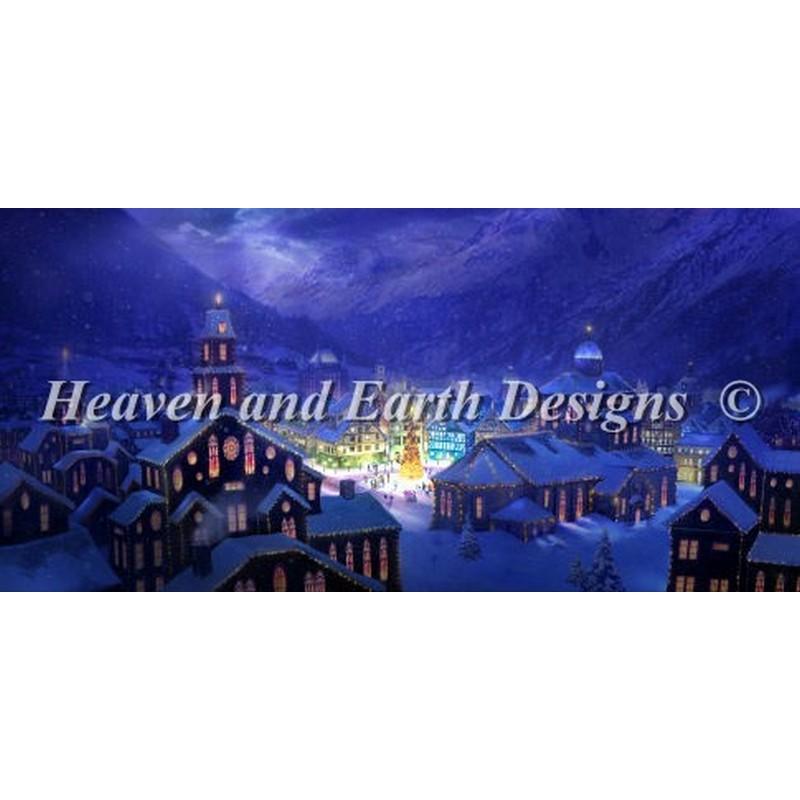 クロスステッチキット25ctルガナChristmas Town - HAED(Heaven And Earth Designs)