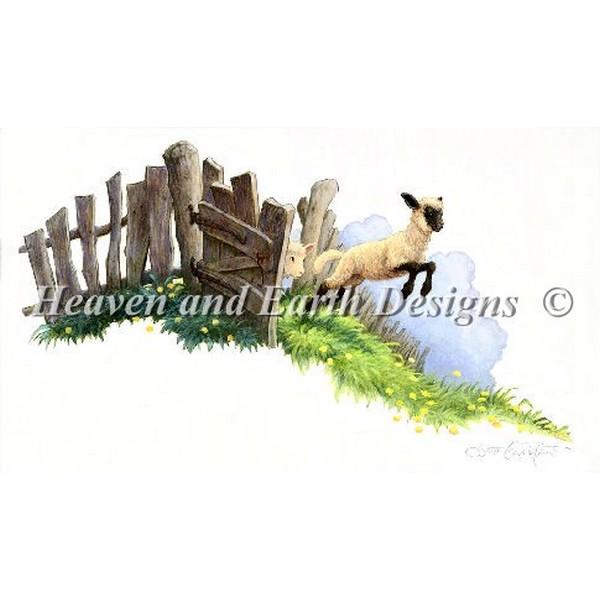クロスステッチ キット 上級者 全面刺し Heaven And Earth Designs(HAED) - Sheeps in The Meadow