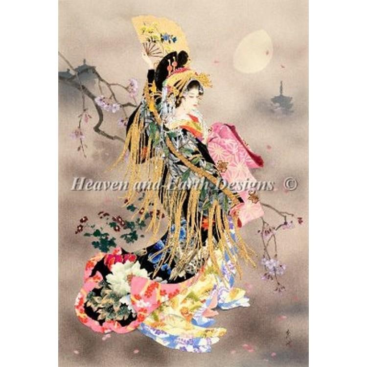クロスステッチ刺繍キットTsuki No Uta-Heaven And Earth Designs(HAED)