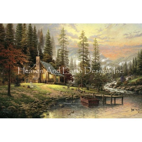 クロスステッチ キット 上級者 全面刺し A Peaceful Retreat-Heaven And Earth Designs(HAED)トーマス・キンケード