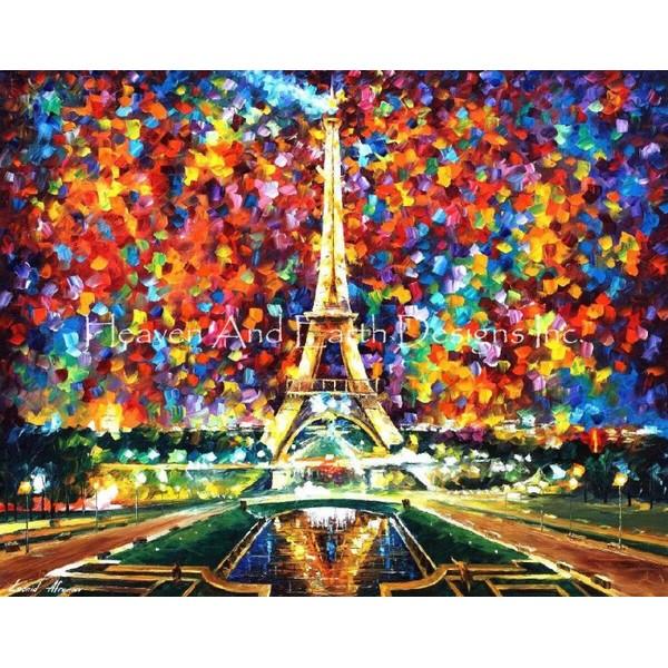 Paris Of My Dreams-Heaven And Earth Designs(HAED) クロスステッチ刺繍キットトーマス・キンケード