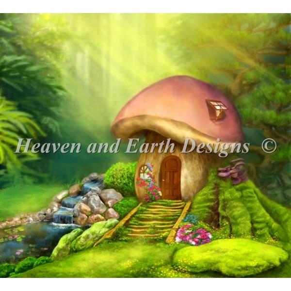 クロスステッチ キット 上級者 全面刺しFantastic Lodge Mushroom-Heaven And Earth Designs(HAED)