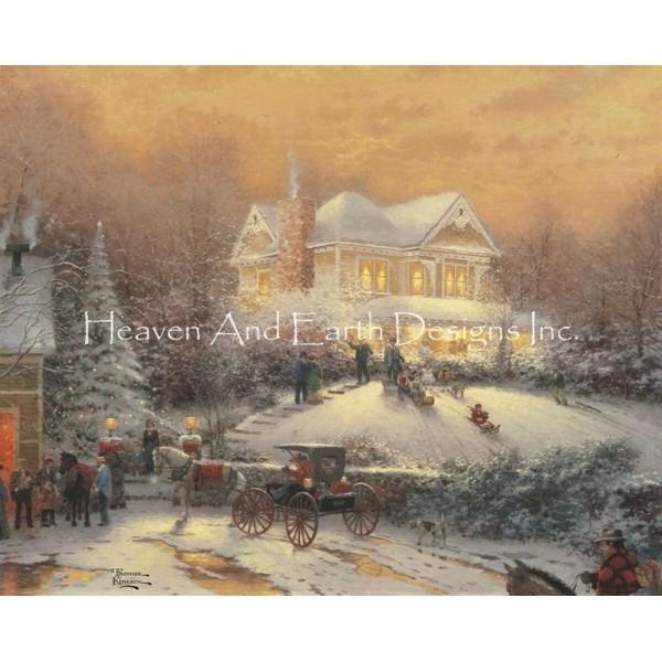クロスステッチキットVictorian Christmas II-HAED(Heaven And Earth Designs