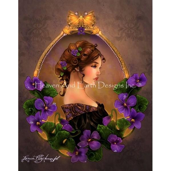 Violette-HAED(Heaven And Earth Designsクロスステッチキット初心者から上級者向け