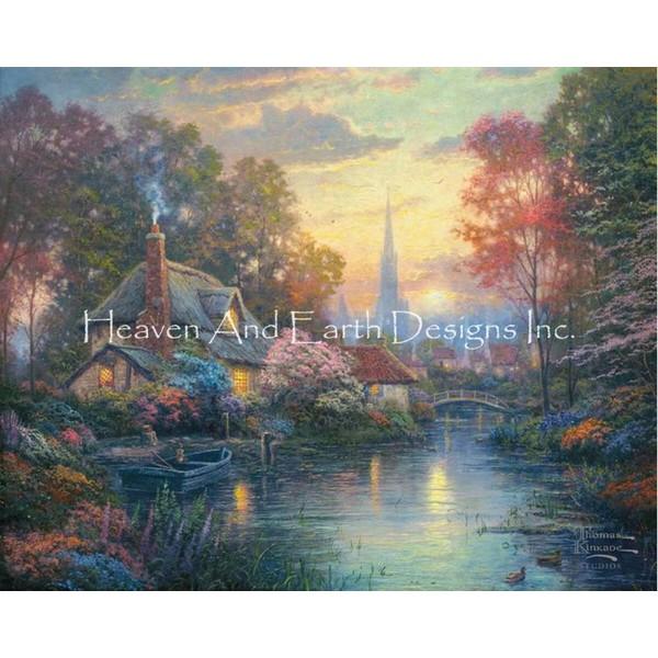 クロスステッチ キット 上級者 全面刺し 風景 Nanette's Cottage-HAED(Heaven And Earth Designs トーマスキンケード