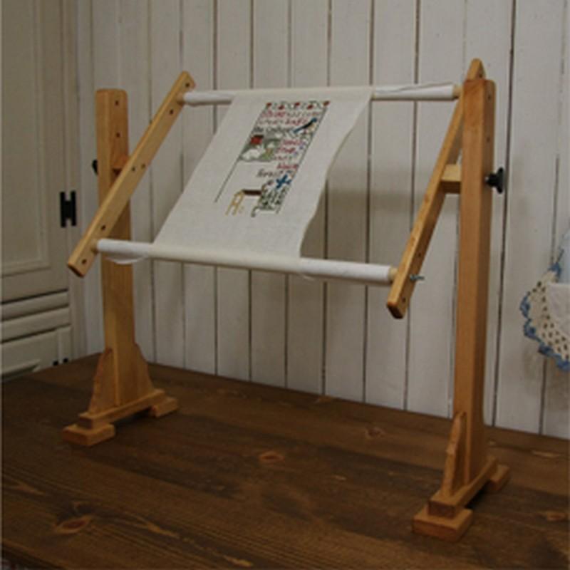 床置用スクロールフレーム60cm 家具屋さんが作ったクロスステッチ刺繍枠