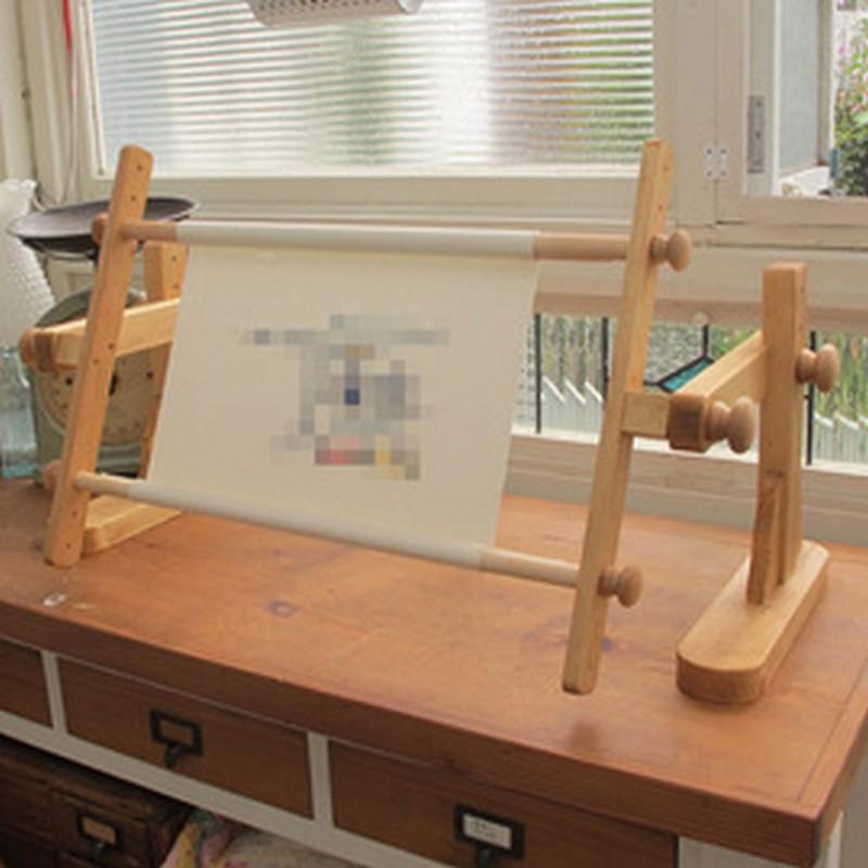 卓上用スクロールフレーム 50cm 家具屋さんが作ったクロスステッチ刺繍枠