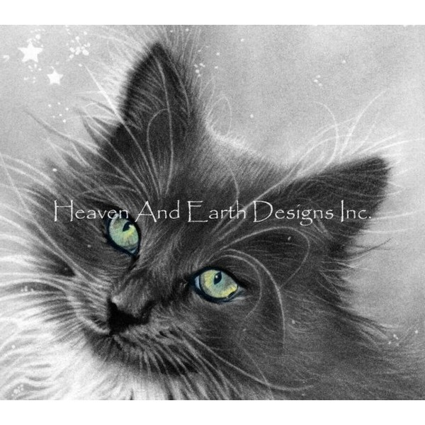 QS Kitty Magic-HAED(Heaven and Earth Designs)クロスステッチ刺繍キット