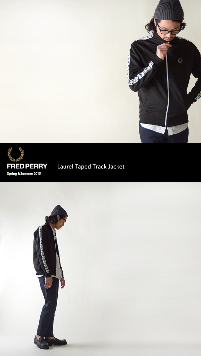 2ed2b00b7 croukalr  FRED PERRY Fred Perry Laurel Taped Track Jacket  truck ...