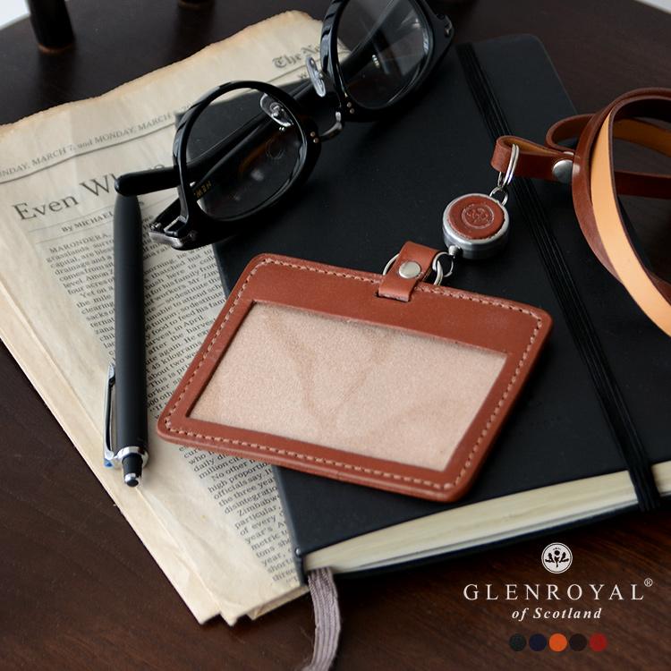2019春夏新作 GLENROYAL グレンロイヤル ID CARD WITH REEL STRAP IDカードケース リール付きネックストラップパスケース・03-6077【送料無料】 #0121