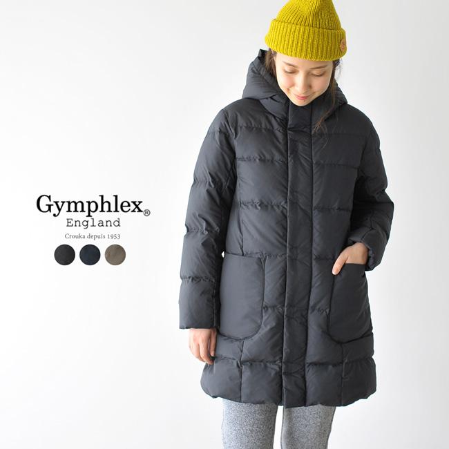 2018秋冬新作 Gymphlex ジムフレックス ナイロン フード ダウン コート ・J-1259TUF 【送料無料】 【クーポン対象外】