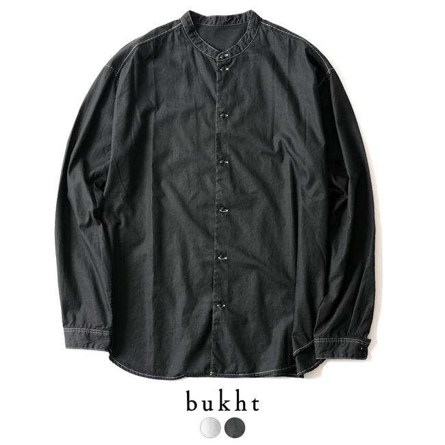 2018秋冬新作 bukht ブフト NEW BAND COLLAR SHIRTS バンドカラー シャツ ・BW-95201 【送料無料】 #0930