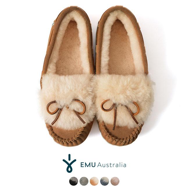 【SALE!30%OFF】EMU エミュ/エミュー Amity Cuff アミティカフ シープスキン ムートン モカシン シューズ・w11200#0920【セール】【返品交換不可】【SALE】