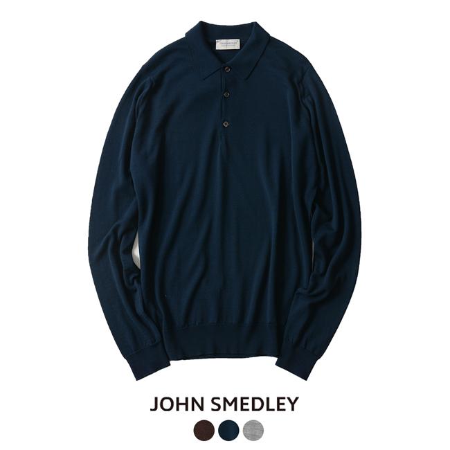2018秋冬新作 JOHN SMEDLEY ジョンスメドレー BELPER ニット ポロシャツ カットソー 【送料無料】 #0924