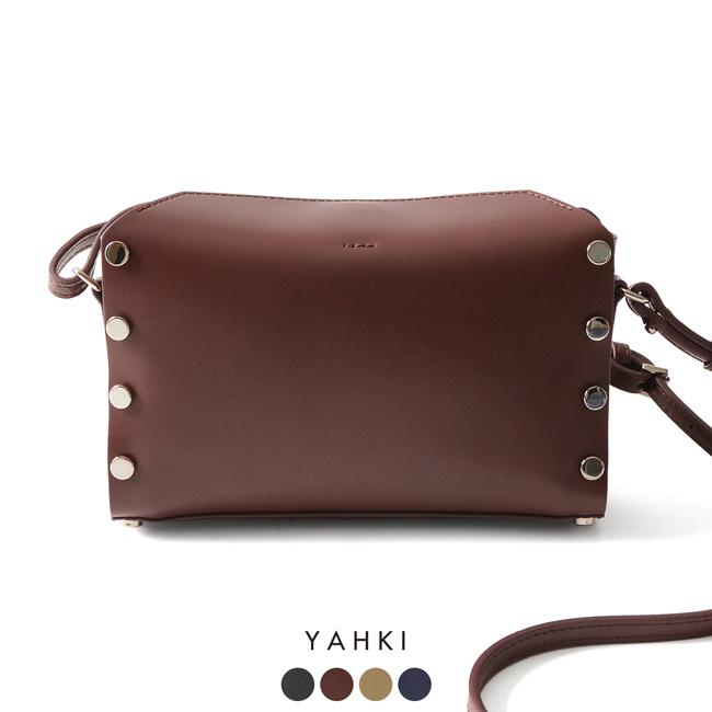 【SALE!20%OFF】 YAHKI ヤーキ スクエア型 スタッズ付き ショルダーバッグ ・YH-201#1003【送料無料】【セール】【返品交換不可】【SALE】