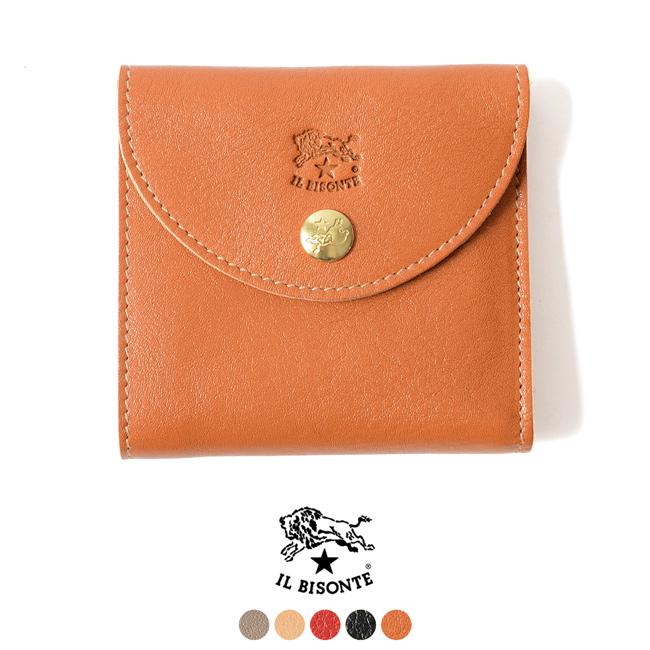 IL BISONTE イルビゾンテ 財布 2つ折りコンパクト ウォレット ミニ財布・54182-3-09240 【送料無料】#1016[クーポン対象外]