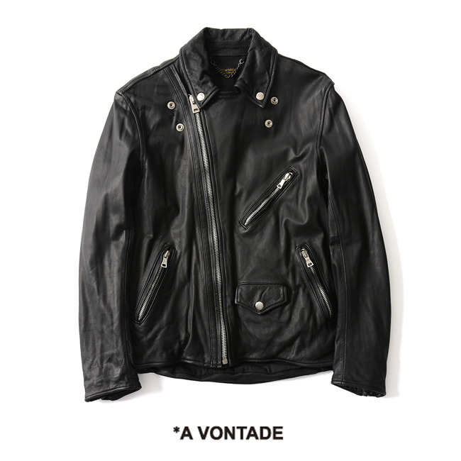 【SALE!20%OFF】A Vontade アボンタージ Cowwhide Leather Jacket ライダース ジャケット レザー ・RD-080-18-AW#1024【送料無料】【セール】【返品交換不可】【SALE】