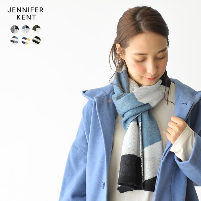 【アウトレット】【SALE!30%OFF】JENNIFER KENT ジェニファー ケント ABSTRACT STRIPE SCARF ワイドボーダー スリムボーダー#1113【セール】【返品交換不可】【SALE】