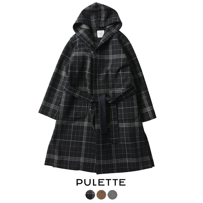 【SALE!30%OFF】PULETTE プレット Double Cloth Gown Coat ダブルクロス ガウンコート ・PL-CO0183#1121【送料無料】【セール】【返品交換不可】【SALE】