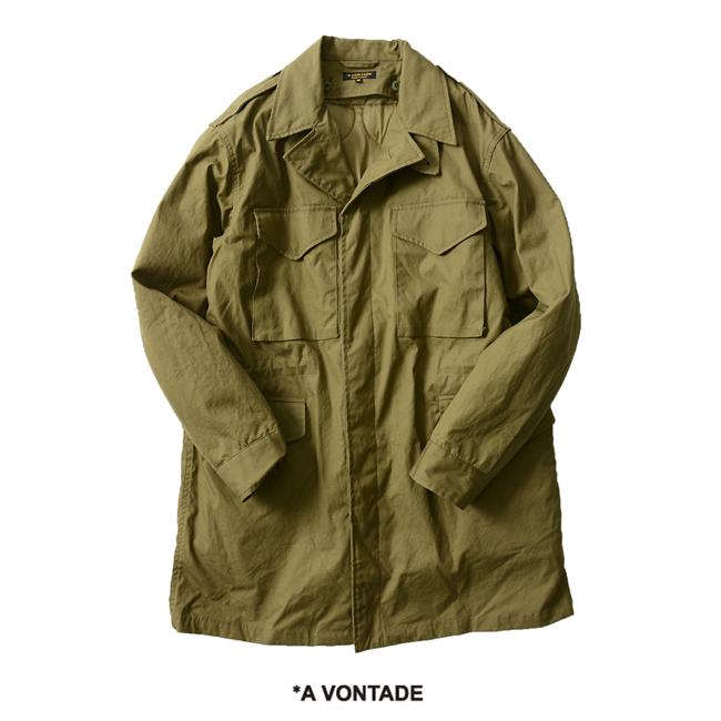 【SALE!20%OFF】A Vontade アボンタージ M-43 Field Coat Modify w/Liner M-43 フィールドコート ハーフコート ミリタリー 2way 裏地 ・VTD-0367-JK #1204【送料無料】【セール】【返品交換不可】【SALE】